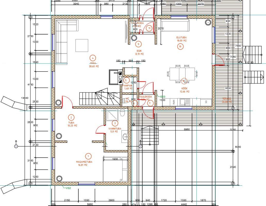 1 korruse plaan
