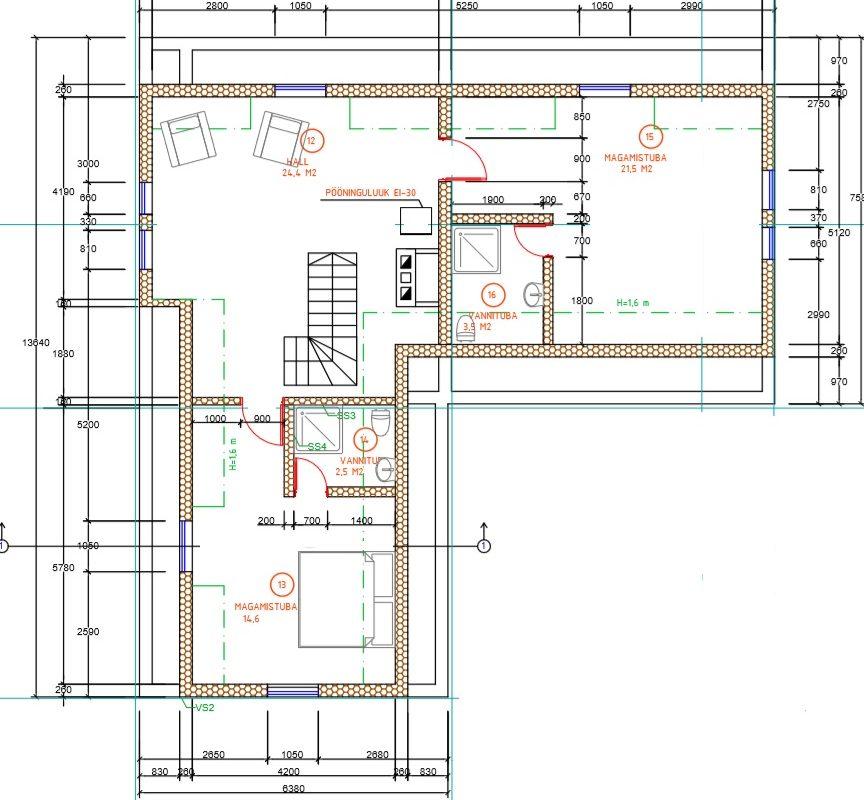 2 korruse plaan