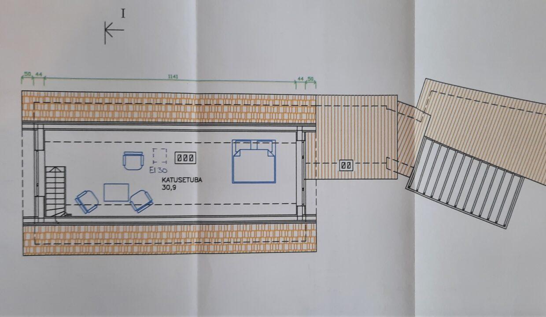 Katusekorruse plaan